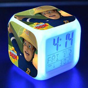 Feu Led RéVeil Dessin Animé NuméRique RéVeil Enfants Jouets RéVeil LumièRe Led Horloge Reloj Despertador Table RéVeil Bureau Wekker 14