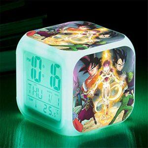 HHCYY Réveil Numérique Enfant Fille Veilleuse Garcon Reveil Matin Wake Up Light Cube Lumineux Digital Alarm Clock Cadeau D'Anniversaire Pour Adultes Chambre Dragon Anime Ball Alarm Clocks (Da311)