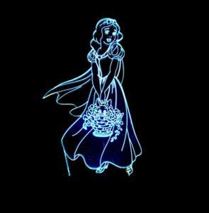 Illusion d'optique 3D veilleuse personnage de dessin animé 7 couleur changeante lampe de table de bureau LED avec base en acrylique plat et ABS et câble USB pour enfants cadeaux décoration de la