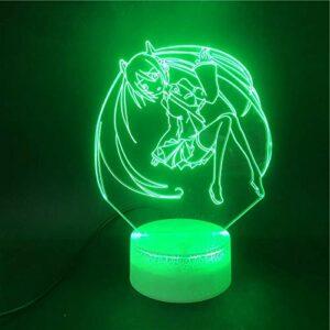 Japonais anime belle fille lampe de table 3D crack base multicolore veilleuse décoration cadeau