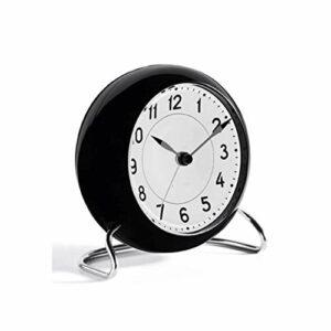 JJZST Réveil Silencieux Rond Simple réveils Modernes for Chambres à Coucher avec veilleuse Douce réveil Matin Horloge (Color : C)