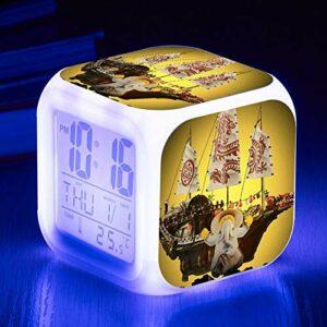 juntop Réveil Night Light-Nouveau Film de Dessin animé réveil pour Enfants appelant Jouet Cadeau réveil numérique réveil lumière et Ombre Horloge de Bureau Horloge LED réveil