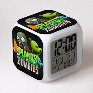 Kids Alarm Clock Color Changing Reloj Despertador Led Reveil Wake Up Light Table Electronic Wekker 11