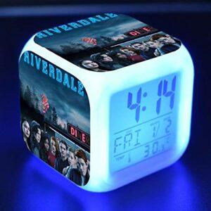 Kids Alarm Clock Glowing Led Light 7 Color Change Digital Alarm Clock Children Toys Reloj Despertador Riverdale Wekker Reveil 5