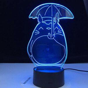 Lampe de table LED anime japonais mon voisin Totoro veilleuse chambre d'enfants salon cadeau de vacances