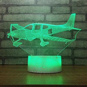 Lumière LED en forme de parapente New Era Décoration de bureau Veilleuse 3D multicolore