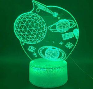 Nouveauté lumière 3D lampe espace univers étoile planète bureau maison chambre cadeau décoratif pour enfant enfants 3D LED veilleuse lampe