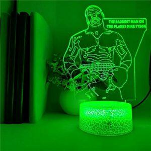 Personnage d'animation créative base de fissure USB 3D multicolore LED veilleuse décoration de lampe acrylique fraîche