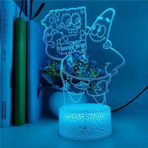 Personnage de dessin animé 3D lampe de table Base fissurée LED veilleuse cadeau de décoration de Noël