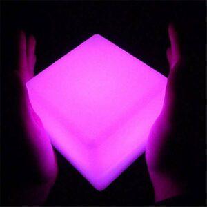 QAZX Accueil Décoration Cube lampe protection IP65 et catégorie rechargeable LED couleur variable batterie Lampes Cubic Lampes de table enfant Veilleuse avec télécommande (Taille : 80 x 80 x 80CM)