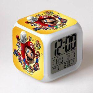 RéVeil Jouets Pour Enfants Horloge NuméRique éLectronique Reloj Despertador Dessin Animé Led Horloge FêTe Anniversaire Cadeau Table RéVeil 03