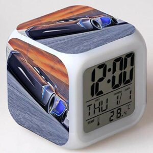 RéVeil NuméRique Pour Enfants Voiture de course-17 RéVeil NuméRique, Horloge De Table De Veilleuse Mignonne, Cadeau De NoëL D'Alarme De Chambre/Sommeil