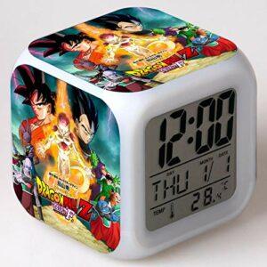 Réveil pour enfants Animation dessin animé Dragon Ball réveil jouet pour enfants Led réveil numérique lumière de réveil électronique 1