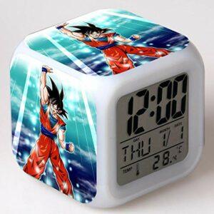 Réveil pour enfants Animation dessin animé Dragon Ball réveil jouet pour enfants Led réveil numérique lumière de réveil électronique 4