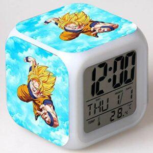 Réveil pour enfants Animation dessin animé Dragon Ball réveil jouet pour enfants Led réveil numérique lumière de réveil électronique 9