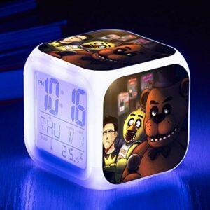 Réveil pour enfants chambre jouet horloge minuit Harley ours LED 7 couleurs grand écran affichage multifonction réveil numérique SeeChart13