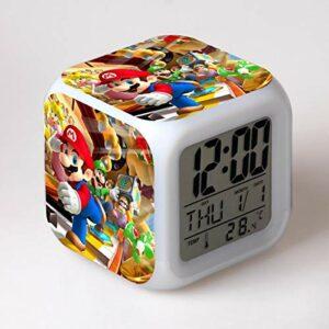 Réveil veilleuse-réveil Jouet pour Enfants Horloge numérique Horloge électronique réveil Dessin animé LED Horloge fête Anniversaire Cadeau Table réveil