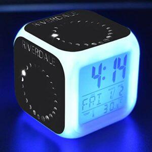 Riverdale Cartoon Alarm Clock Kids Toys Led Reloj Despertador Digital Alarm Clock Electronic Wake Up Light Table Reveil Wekker 11