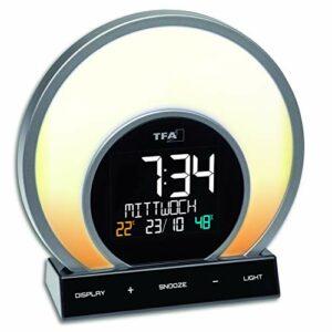 TFA Dostmann 60.2026.01 Soluna Réveil 5 modes d'éclairage