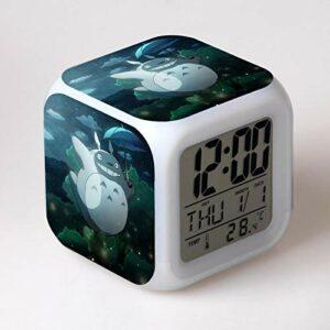 Totoro Led RéVeil Dessin Animé NuméRique RéVeil Enfants Jouets RéVeil LumièRe Led Horloge Reloj Despertador Table RéVeil Bureau Wekker 15