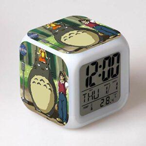 Totoro Led RéVeil Dessin Animé NuméRique RéVeil Enfants Jouets RéVeil LumièRe Led Horloge Reloj Despertador Table RéVeil Bureau Wekker 7