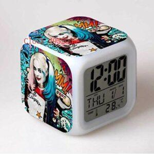 TYWFIOAV Réveil numérique à LED avec changement de couleur – Pour enfants – Réveil de bureau – Version électronique lumineuse.