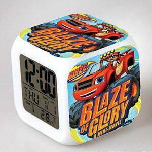 WH-PORP Flamme LED réveil dessin animé réveil numérique horloge jouet pour enfants