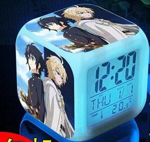 WH-PORP Réveil 7 couleurs Angel Japan Anime LED comme cadeau pour les enfants