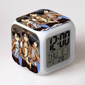 Yangoo Réveil Numérique Horloge de Chevet avec la Veilleuse LED Affichage de la 12H/24H Temps Horloge de Chevet Cadeaux Anniversaire Noël,E