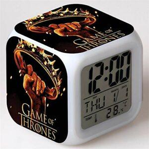 Yangoo Réveil Numérique Horloge de Chevet avec la Veilleuse LED Affichage de la 12H/24H Temps Horloge de Chevet Cadeaux Anniversaire Noël,J