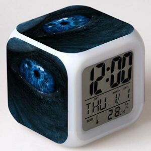 Yangoo Réveil Numérique Horloge de Chevet avec la Veilleuse LED Affichage de la 12H/24H Temps Horloge de Chevet Cadeaux Anniversaire Noël,K