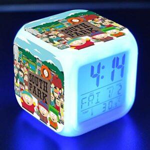 Yyoutop Dessin animé Jouet Enfants réveil LED Couleur Changeante Horloge numérique Bureau Nuit réveil lumière rougeoyante Cadeau Version électronique