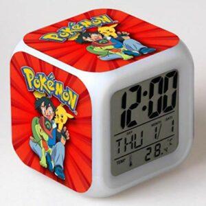 Yyoutop Enfants réveil réveil numérique réveil Dessin animé réveil lumière réveil Table LED Horloge