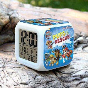 Yyoutop Réveils Ours Polaires pour Les Chambres d'enfants Réveils Multifonctions Affiche l'heure et la Date