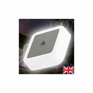 2pcs automatique LED enfant veilleuse plug in lampe à faible économie d'énergie blanc