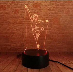 3D danse homme 7 couleur dégradé veilleuse Table de couchage lampe de bureau anniversaire noël nouvel an jouets pour les amateurs de danse