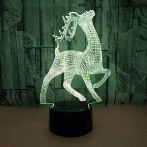 Acrylique 3D cerf lumière vision colorée 3D veilleuse chambre d'enfants USB lumière LED lumière LED veilleuse
