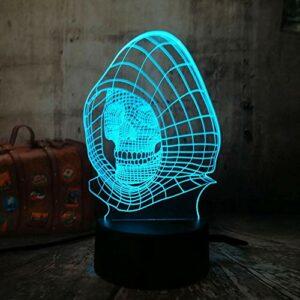 Cool tête de mort lumière 3DLED veilleuse 7 changements de couleur bar maison enfants lumières de décoration de Noël