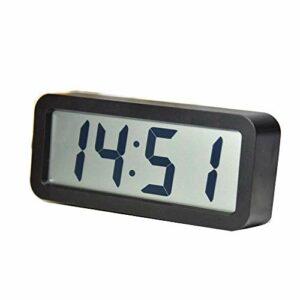 Couleurs Candy Digital Alarm Réveil Miroir Surface Affichage LED Dimmer Réveil Veilleuse Batteries Powered Réveils (Couleur: Vert, Taille: 10X4.8X10cm) LUDEQUAN ( Color : Black , Size : 18.7×8.2x4CM )