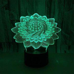 Creative Lotus 3D lampe de table veilleuse LED fleur noyau plusieurs couleurs chambre lotus lampe décoration cadeau