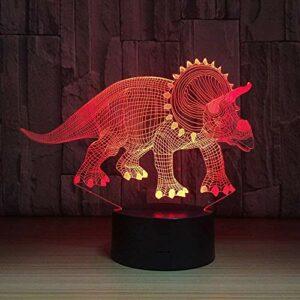 Herbivore dinosaure 3D lumière LED veilleuse roman illusion veilleuse LED avec câble USB plat cadeau de fête d'anniversaire