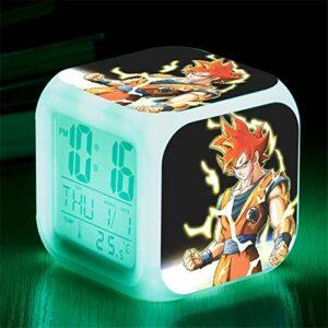 HHCYY Réveil Numérique Enfant Fille Veilleuse Garcon Reveil Matin Wake Up Light Cube Lumineux Digital Alarm Clock Cadeau D'Anniversaire Pour Adultes Chambre Dragon Anime Ball Alarm Clocks (Da294)