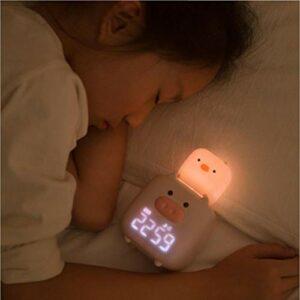 HIL Réveil Inutaro Veilleuse De Dessin Animé pour Enfants Luminosité Réglable Horloge Digitale Veilleuse Horloge De Chevet Charge Veilleuse Réveil Numérique Réveil Intelligent