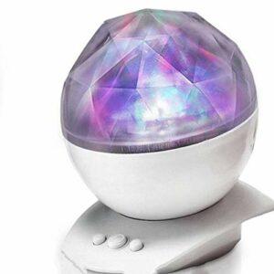 IANSISI Veilleuse Aurora , Projecteur , 8 changements d'Aurora et Haut-Parleur intégré Rotatif à 360 ° pour Que Les Enfants ou Les Adultes dorment Veilleuses à LED calmes