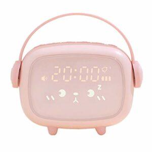 Kongqiabona-UK Réveil Mignon veilleuse réveil minuterie Compte à rebours réveil LED Intelligent Enfants réveil veilleuse décor à la Maison
