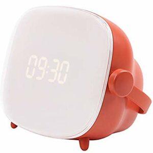 LTLJX Réveil Dessin animé réveil lumière réveil Lampe Creative Veilleuse éclairage réglable Temps Luminosité USB LUDEQUAN