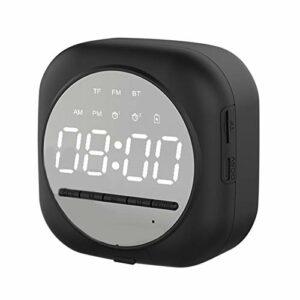 Réveil Bluetooth Haut-Parleur LED Veilleuse, Il Y A 2 Réveils Indépendants, Supporte Bluetooth 5.0 Et Lecteur MP3, 2 Types De Luminosité Réglable Adapté À La Chambre d'enfant, Bureau