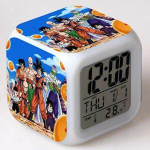 Réveil pour enfants Animation dessin animé Dragon Ball réveil jouet pour enfants Led réveil numérique lumière de réveil électronique 7
