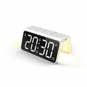 SHIDEDIA Lampe de réveil de réveil de Miroir daffichage numérique à LED Lampe de Nuit T8