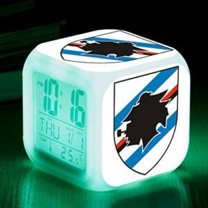 TYWFIOAV Lampe de table de football pour chambre d'enfant avec éclairage LED et réveil Reloj Despertador Infantil